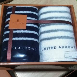 UNITED ARROWS - UNITED ARROWS ユナイテッドアローズ フェイスタオル 2枚組