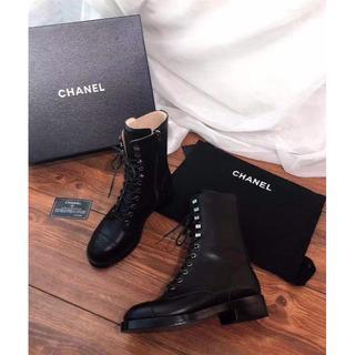 シャネル(CHANEL)のシャネル 革靴 ブーツ ブラック 良品 ♡  (ブーツ)