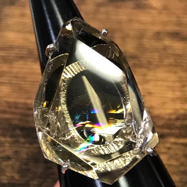 ai様♡アイリスクォーツ シルバー925 リング 17号 レディースのアクセサリー(リング(指輪))の商品写真