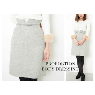 PROPORTION BODY DRESSING - PROPORTION BODY DRESSING ネップツィードタイトスカート