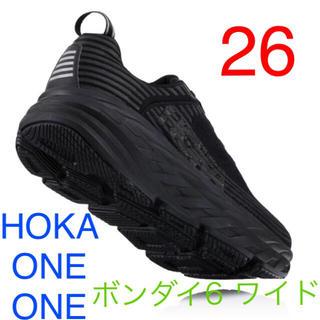ビームス(BEAMS)のHOKA 26 ホカオネオネ ボンダイ6 ワイド 黒 BONDI6(スニーカー)