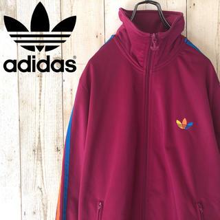 adidas - レアカラー アディダス ビッグロゴ ジャージ 紫 古着 ビッグサイズ