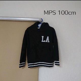 エムピーエス(MPS)の男の子 トレーナー パーカー Right-on 100cm 黒 長袖(Tシャツ/カットソー)