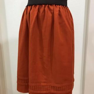 エニィスィス(anySiS)のエニシス オレンジスカート(ひざ丈スカート)