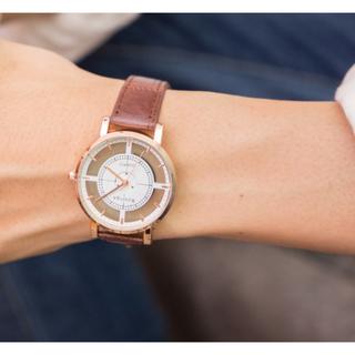 デザインウォッチ☆ブラウン(腕時計)