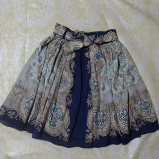 マーキュリーデュオ(MERCURYDUO)のMERCURYDUO スカーフ柄スカート(ミニスカート)