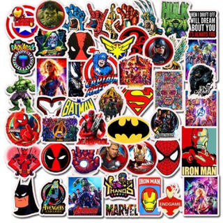 アメコミ  ステッカー50枚 スパイダーマン スパーマン キャプテンアメリカ