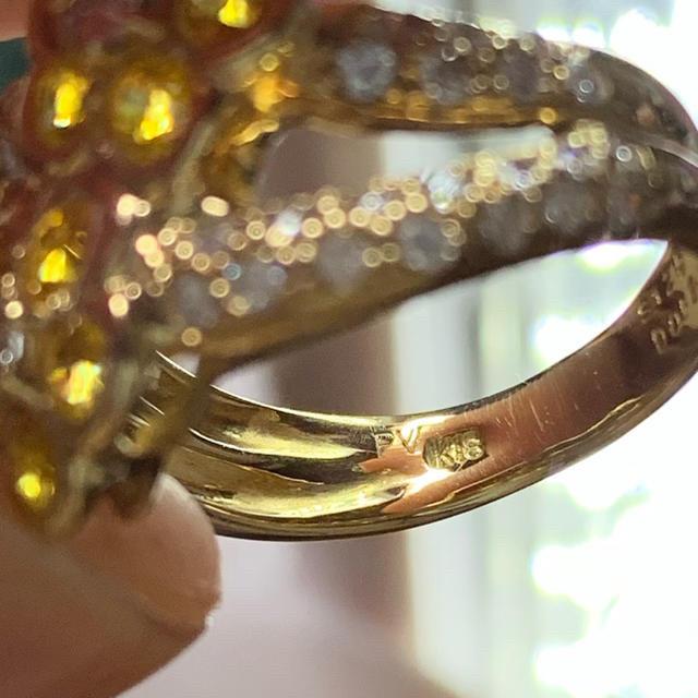 PonteVecchio(ポンテヴェキオ)のお値下げ ポンテヴェキオ  リング お花 イエローサファイヤ レディースのアクセサリー(リング(指輪))の商品写真