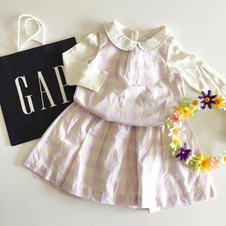 ベビーギャップ(babyGAP)の新品♡今季♡baby gap♡セットアップ チェック/ラルフローレン ユニクロ(ワンピース)