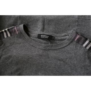 BURBERRY BLACK LABEL - 美品★バーバリーブラックレーベル■グレーTシャツ▼S♪