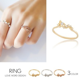 loveリング ピンクゴールド(リング(指輪))