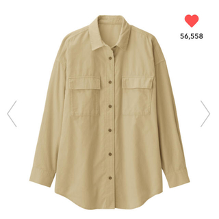 GU - ジーユー コーデュロイオーバーサイズシャツ L  新品未使用