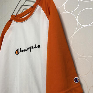 Champion - Champion チャンピオン 半袖Tシャツ オレンジ used 古着 スポーツ