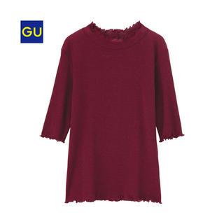 ジーユー(GU)のジーユー / ミニハイネックT(5分袖)(Tシャツ(半袖/袖なし))