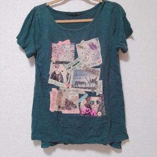 ヘザー(heather)のHeather半袖Tシャツヘザー黒ブラック(Tシャツ(半袖/袖なし))