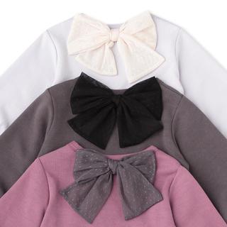 プティマイン(petit main)の後ろリボンつきペプラムチュニック(Tシャツ/カットソー)