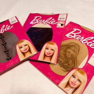 バービー(Barbie)の💖三足セット💖新品未使用💖バービーストッキング💖(タイツ/ストッキング)