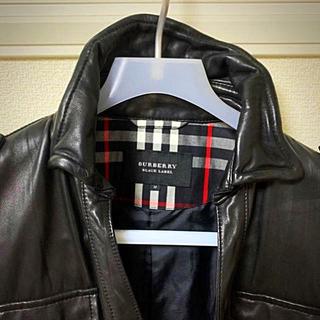 BURBERRY BLACK LABEL - 【美品】バーバリーブラックレーベル レザージャケット