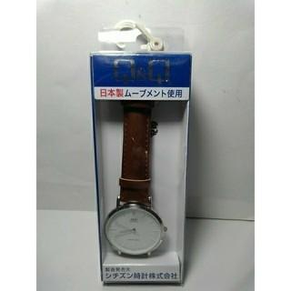 シチズン(CITIZEN)の新品 シチズン Q&Q 茶色 時計(腕時計)