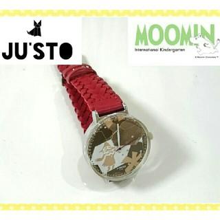 新品未使用☆定価12000円◆JUST×ムーミン◆レザー腕時計  スナフキン(腕時計)