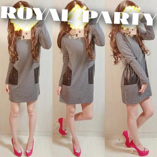 ロイヤルパーティー(ROYAL PARTY)のROYAL PARTY ビジューワンピース(ミニワンピース)