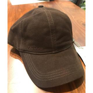 バーブァー(Barbour)の新品 Barbour Moleskin cap ブラウン モールスキン(キャップ)