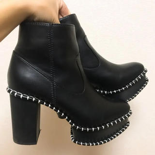 マウジー(moussy)のMOUSSY ウッドブーツ 黒(ブーツ)