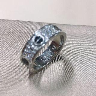カルティエ(Cartier)の カルティエ WG ラブリング パヴェダイヤ #52 12号 ダイアモンド(リング(指輪))