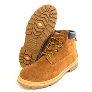 BULLET JAM本革6インチワークブーツ イエローブラウン 26.5cm(ブーツ)