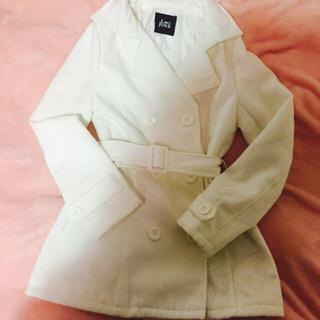 ラブジャンキー(LOVE JUNKIE)のホワイト コート 💖(ロングコート)