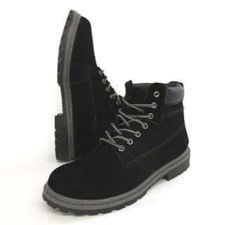 BULLET JAM本革6インチワークブーツ ブラック 25cm(ブーツ)
