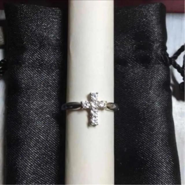 シルバー リング クロス 7号 レディースのアクセサリー(リング(指輪))の商品写真