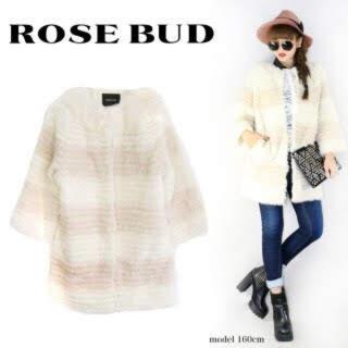 ローズバッド(ROSE BUD)のrosebad ファーコート(毛皮/ファーコート)