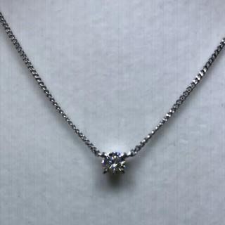 Cartier - 期間限定出品価格 PT900 ダイヤモンド 一粒 ネックレス    0,32ct