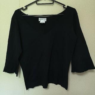 agnes b. - アニエスベー  七分丈  シャツ  ブラック