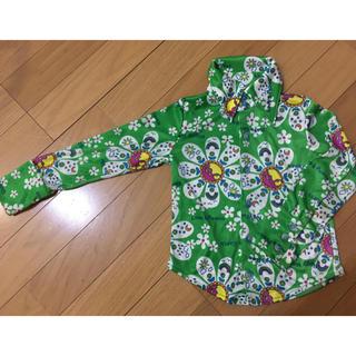ブーフーウー(BOOFOOWOO)のオリジナルバックパッカーウェア 緑 レトロ サイケ 100  シャツ(ブラウス)