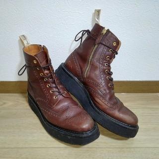 foot the coacher - 【 即買 ★定価5.5万 】フットザコーチャー サイドジップブーツ 厚底クレープ