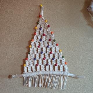 クリスマス   マクラメツリー  タペストリー(インテリア雑貨)