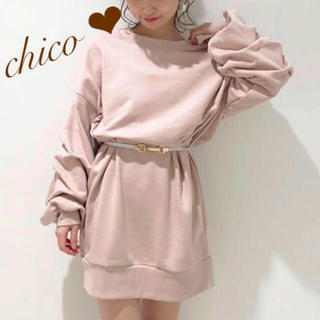 who's who Chico - 袖段々スウェットワンピース❤︎