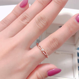 4℃ - K10 !ダイヤモンド!4℃ 指輪 新品未使用!