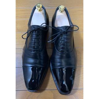 サントーニ(Santoni)のサントーニ ビジネスシューズ 革靴 ドレス 鏡面 ストレートチップ 黒 6(ドレス/ビジネス)