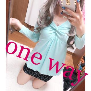 ワンウェイ(one*way)の1036.one way カシュクール 七分袖 バルーンチュニック(チュニック)