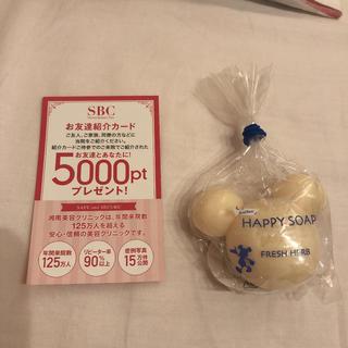 Disney - 湘南美容クリニックお友達紹介カード+ミッキー石鹸