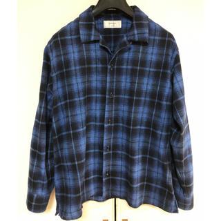ノンネイティブ(nonnative)のsandinista サンディニスタ オープンカラー チェックシャツ ブルー (シャツ)