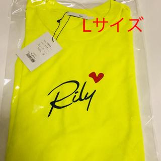 RILY  Tシャツ 黄色 Lサイズ(Tシャツ/カットソー(半袖/袖なし))