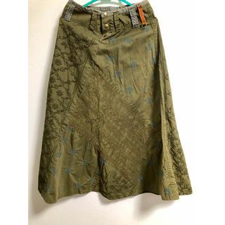 H.P.FRANCE - samotage 刺繍 スカート