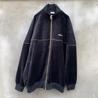 サンシー(SUNSEA)のneonsign / FILA Bootleg Velor Jacket(ノーカラージャケット)