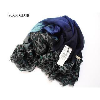SCOT CLUB - 定価4,500円【新品】スコットクラブ★レオパードグラデーションストール・ブルー