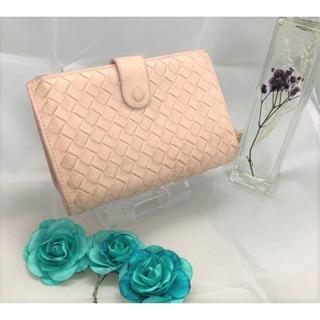 Bottega Veneta - 〈90%off〉 【ボッテガ ヴェネタ】 財布 折財布 ピンク 二つ折り