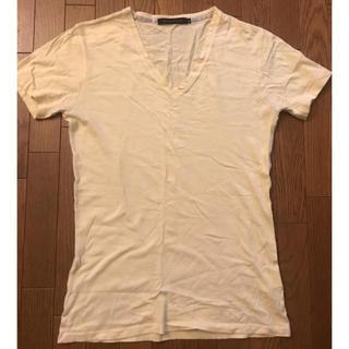 フーガ(FUGA)のゴスタール ジ フーガ  VネックTシャツ 薄黄色 無地(Tシャツ/カットソー(半袖/袖なし))